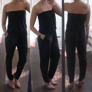 Catherine Malandrino black strapless jumpsuit